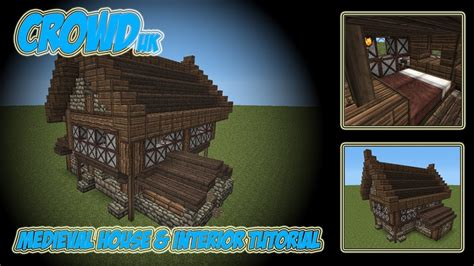 minecraft medieval house interior tutorial youtube