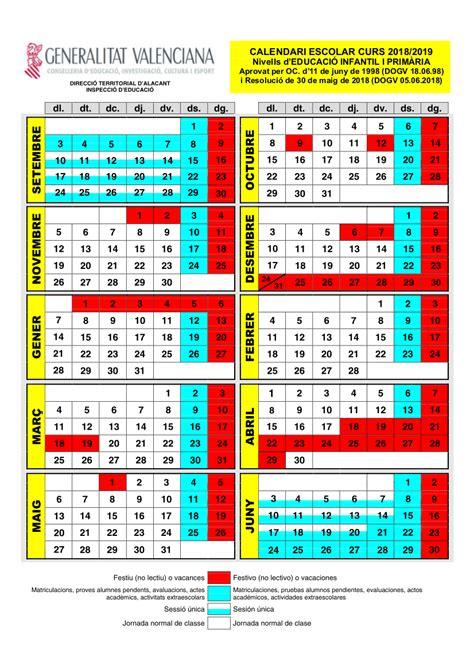 calendario escolar   colegio san jose de cluny