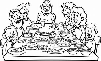 Clipart Thanksgiving Dinner Table Clip Clipground