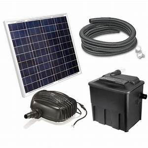 Pompe Bassin Solaire Jardiland : kit pompe solaire bassin garda 2400 premium avec filtre achat vente bassin d 39 ext rieur kit ~ Dallasstarsshop.com Idées de Décoration