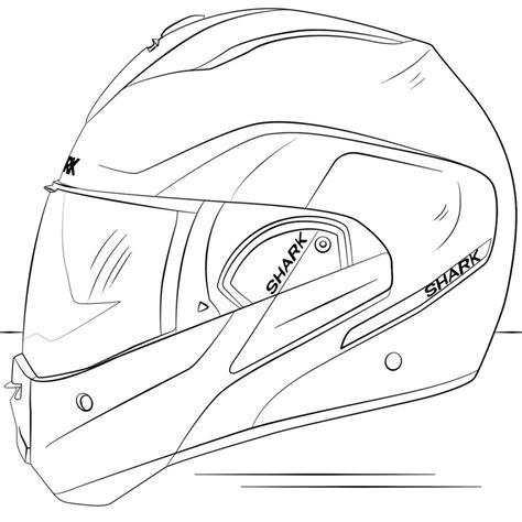 coloriages casque de moto imprimable gratuit pour les