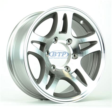 Boat Trailer Wheels Aluminum by Boat Trailer Wheel 15 Inch Aluminum Wheel Split Spoke 6