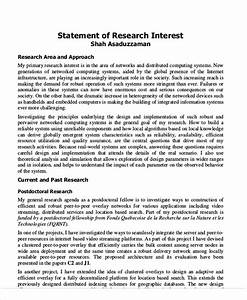 statement of interest sample