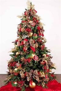 Schleifen Für Weihnachtsbaum : ppig geschm ckter weihnachtsbaum in rot und gold weihnachten pinterest geschm ckter ~ Whattoseeinmadrid.com Haus und Dekorationen