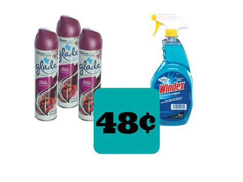 Windex & Glade 48¢ Each Sunday Only