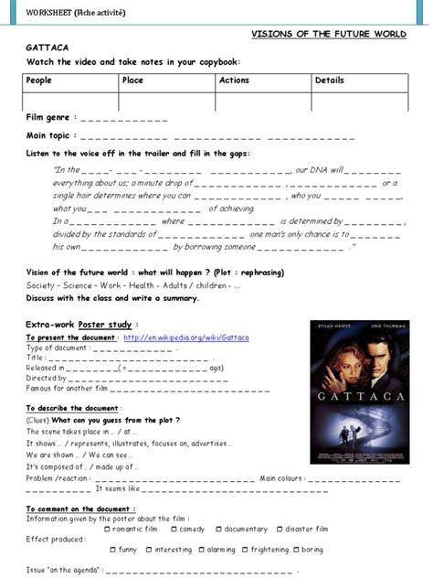 Gattaca Film Activity Worksheet