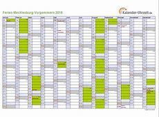 Ferien MeckPomm 2016 Ferienkalender zum Ausdrucken