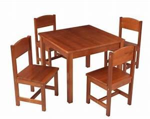 Table De Ferme Et 4 Chaises Brun Kidkraft 21451 LesTendancesfr