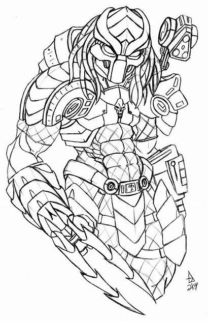 Predator Armor Pencil Custom Pages Coloring Drawing