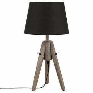 Abat Jour Lampe A Poser : lampe poser bois abat jour 46cm ~ Dailycaller-alerts.com Idées de Décoration