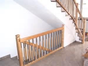 treppe stahlwange geländer in birke mit sprossen in edelstahl und holz kombination