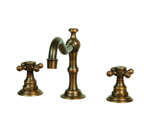 Antique Bronze 8 Inch Widespread 2 Handles Bathroom Faucet