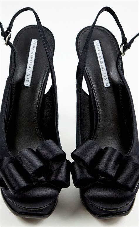 vera wang lavender label black peeptoe  style