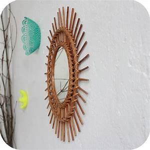 Petit Miroir Rotin : c597 mobilier vintage miroir rotin vintage d atelier du petit parc ~ Melissatoandfro.com Idées de Décoration