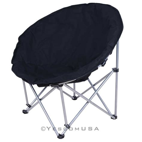 microsuede folding padded saucer moon chair lagre oversized living room seating ebay