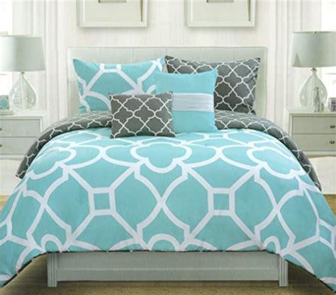 blue and grey duvet covers max studio lattice quatrefoil pattern duvet