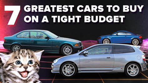 The 7 Greatest Cars You Can Buy On A Seriously Tight