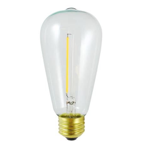 1w 1800k flicker free dimmable st64 vintage led filament