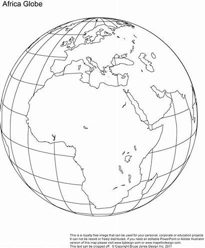 Globe Blank Map Printable Maps Africa Earth