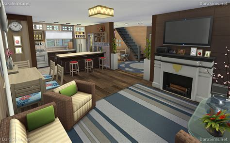 Family Corner ? House for Sims 4 (noCC)   DaraSims.net