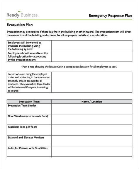 Emergency Drill Report Template