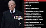 Prince Philip wears full collection of SEVENTEEN medals ...