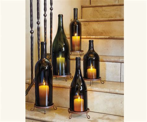 wine bottle candle holder how to make a candle holder from a cut wine bottle diy