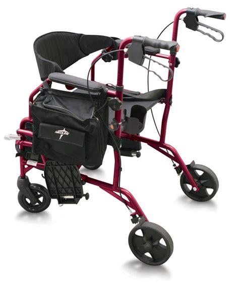 Medline Rollator Transport Chair by Medline Excel Translator Combo Transport Chair And Rollator