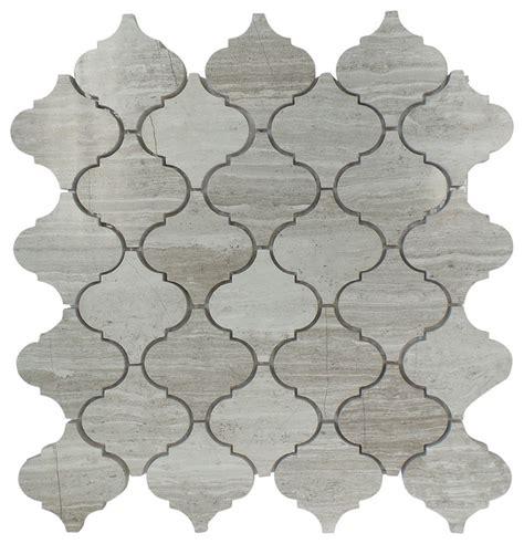 arabesque marble mosaic tile 12 50 quot x 12 50 quot wooden grey