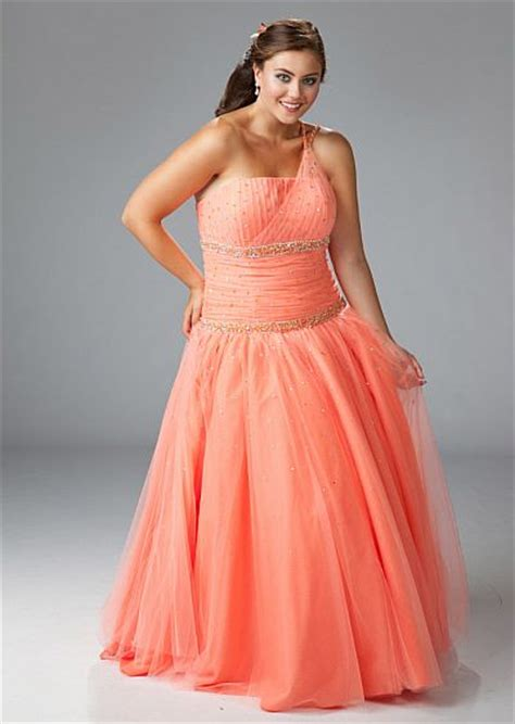 sydneys closet plus size orange tulle gown for prom