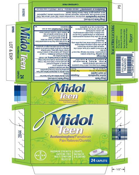 Midol Teen Tablet Coated Bayer Healthcare Llc