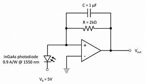trans impedance amplifier circuit for each photodiode the With pin photodiodes
