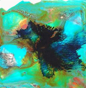Modern, Abstract, Painting, Reef, Shadows