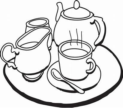 Tea Clipart Clip Party Teacup Tray Teapot