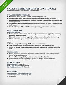 retail sales associate resume sample writing guide rg With functional resume