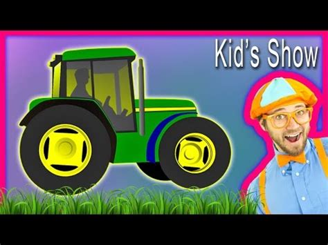 Blippi Boat Song Youtube by Tractors For Kids With Blippi The Tractor Song Doovi