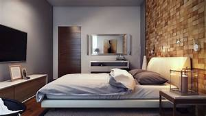 wood block textured feature wall interior design ideas With interior design bedroom feature wall