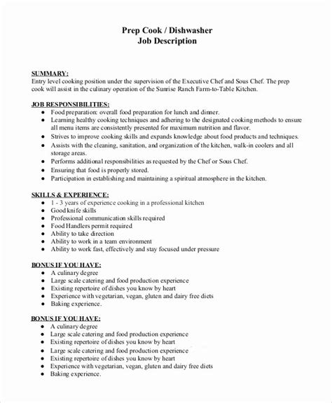 Dishwasher Resume Exle by Dishwasher Description For Resume Latter Exle