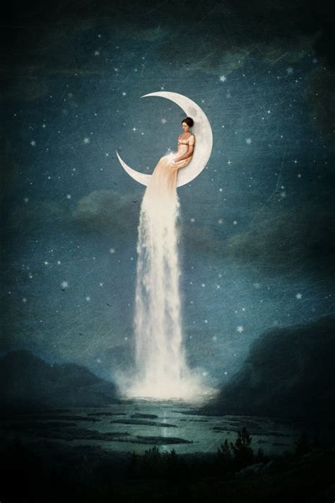 Moon River Lady Canvas Print Paula Belle Flores Society