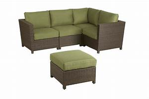 Hampton bay delaronde 5 piece outdoor sectional set the for Home depot sectional sofa outdoor