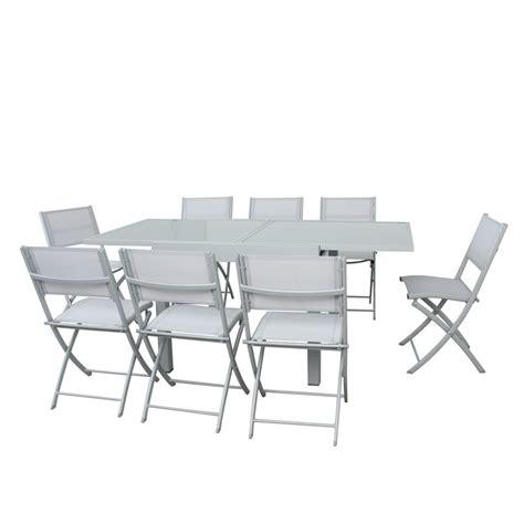barrière aluminium jardin table de jardin extensible aluminium verre 90 180cm 8