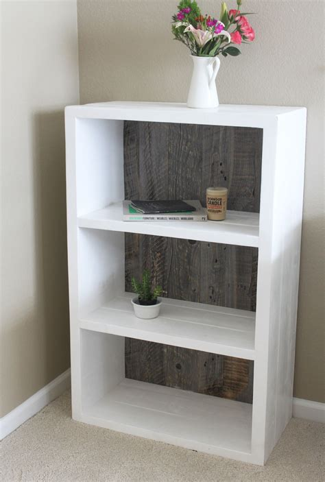 Bookcases White Wood - reclaimed wood painted white and grey wood bookshelf