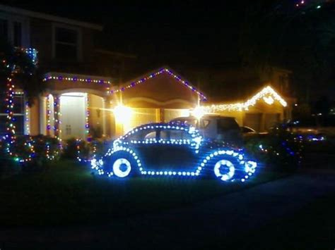 volkswagen christmas vw bug with christmas lights vw beetle pinterest