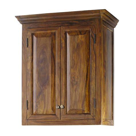 meuble cuisine en bois meuble haut de cuisine en bois de sheesham massif l 60 cm