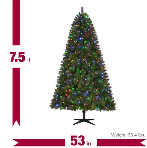 home accents holiday 7 5 ft pre lit led wesley spruce