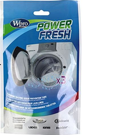 lave linge wpro afr300 power fresh 3 tablettes anti odeur pour lave linge electromenager