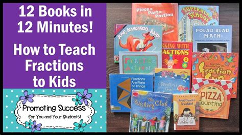 How To Teach Fractions To 3rd & 4th Graders Math Books For Kids Youtube