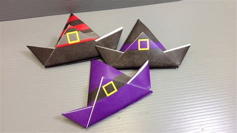 origami halloween witch hat print   paper youtube
