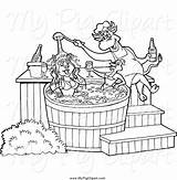 Tub Coloring Pig Bbq Chef Clipart Female Chicken Sauce Template Pouring Bull sketch template