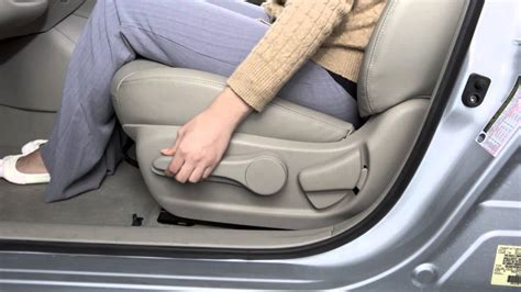 nissan sentra seat adjustments youtube